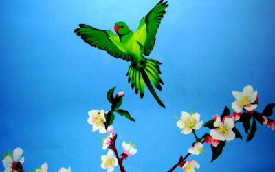 Bathroom ceiling - 'Parakeets' detail 2