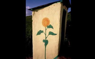Nqileni village toilet - 'Sunflower' 2004