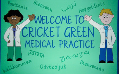 Doctors surgery - 'Welcome sign'