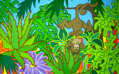 Foresters Primary School library - 'Jungle'
