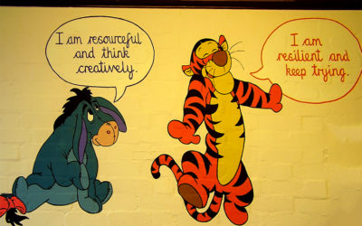Mead Infant School library - 'Motivational book characters'
