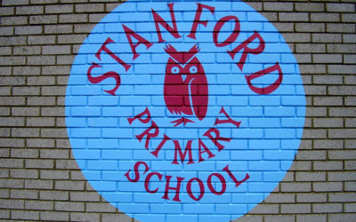 Stanford Primary School - 'Welcome sign'