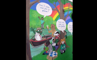 Beddington Primary School. Wind in the Willows encouraging   good playground behaviour 2