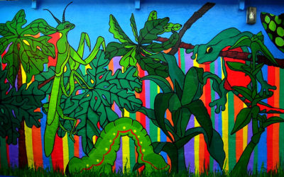 Bulungula Lodge, 'Jungle mural'. 2015